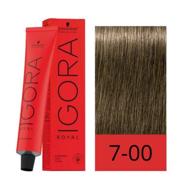 Schwarzkopf Tinte Igora Royal 7-00 Rubio Medio Natural Intenso 60 ml