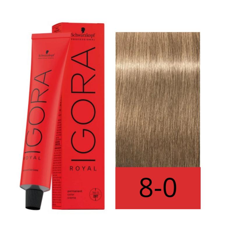 Schwarzkopf Tinte Igora Royal Absolutes 8-0 Rubio Claro Natural 60 ml