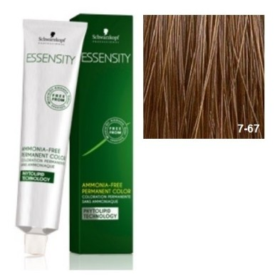 SCHWARZKOPF ESSENSITY TINTE SIN AMONIACO 7-67 RUBIO MEDIO MARRON COBRIZO