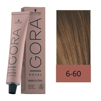 Schwarzkopf Tinte Igora Royal Absolutes 6-60 Rubio Oscuro Chocolate Natural 60 ml