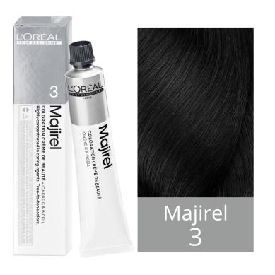 L'Oreal Tinte Majirel 3 Castaño Oscuro 50 ml