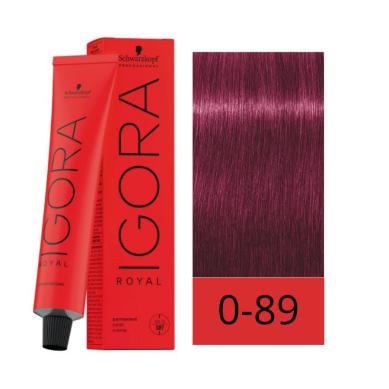 Schwarzkopf Igora Royal 0-89 Tono de Mezcla Rojo Violeta 60 ml