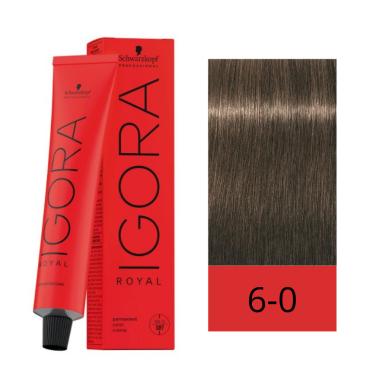 Schwarzkopf Tinte Igora Royal 6-0 Rubio Oscuro Natural 60 ml