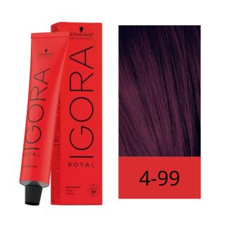 Schwarzkopf Tinte Igora Royal 4-99 Castaño Medio Violeta Intenso 60 ml