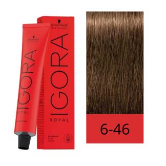 Schwarzkopf Tinte Igora Royal 6-46 Rubio Oscuro Beige Chocolate 60 ml Nude Tones
