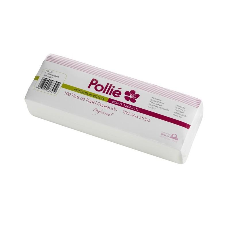 POLLIÉ Bandas papel depilatorio 100 uds