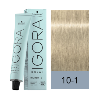 Schwarzkopf Tinte Igora Royal 10-1 Rubio Platino Ceniza High Lifts 60 ml