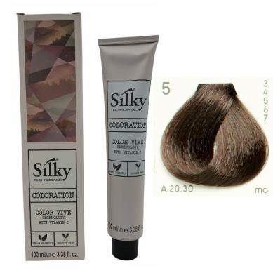SILKY Tinte de pelo nº 5 castaño claro 100 ml