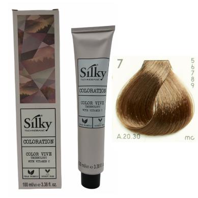 SILKY Tinte de pelo nº 7 rubio medio 100 ml
